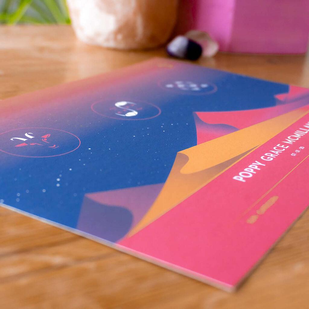 Sun moon rising print - Tira Design