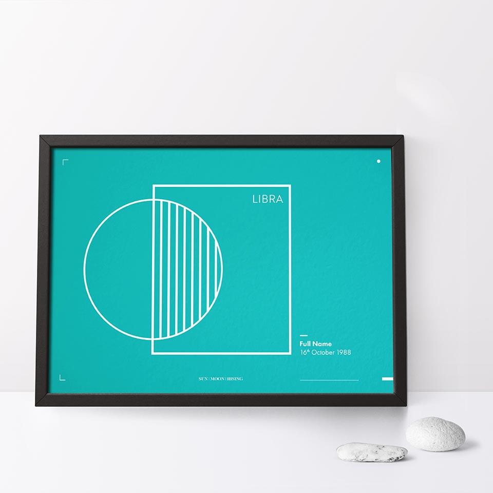 Sun moon rising small print - Tira Design