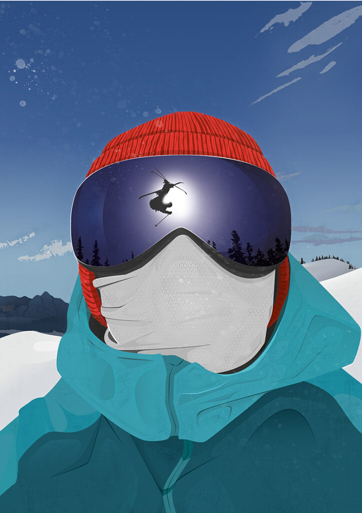 Ski illustration - Tira Design